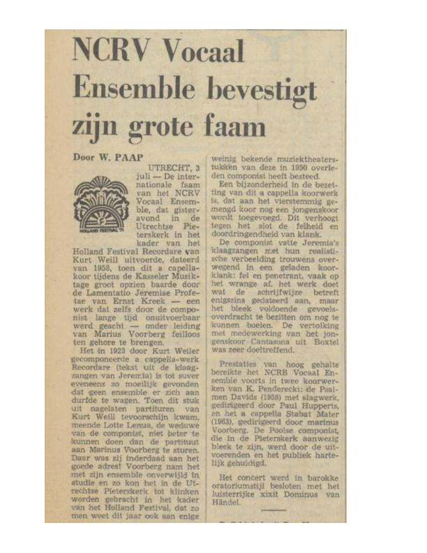 1971 Recensie Recordare