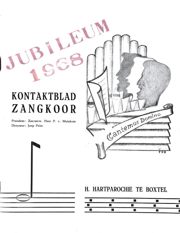 1968 Jubileum Kontaktblad