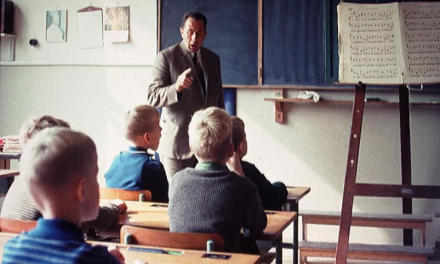 """Foto: de opleidingsklas in de """"boerenschool"""""""