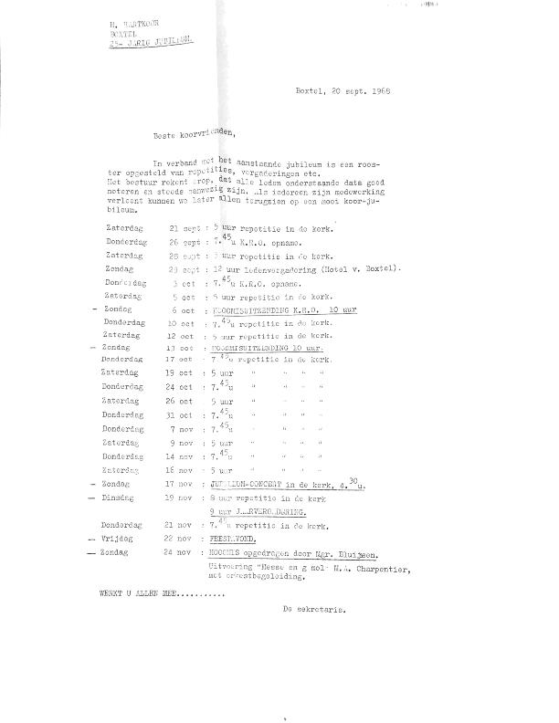 1968 Programma oktober en november
