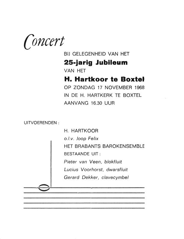 1968 Programmaboekje Jubileumconcert