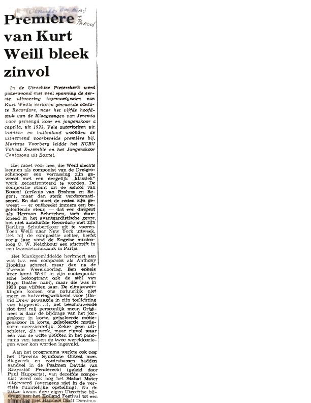 1971 Recordare krantenknipsels