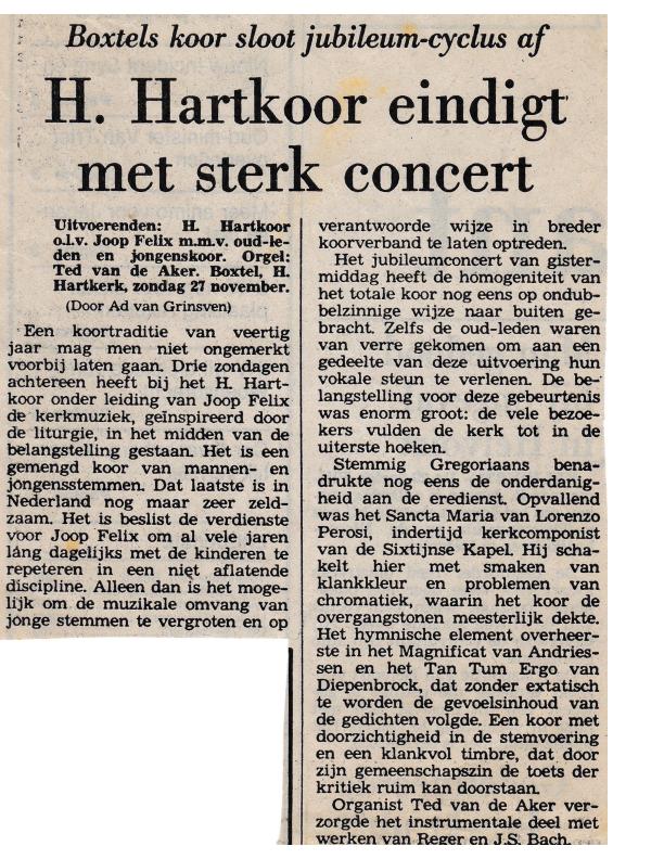 1983 40-jarig jubileum Recensie slotconcert