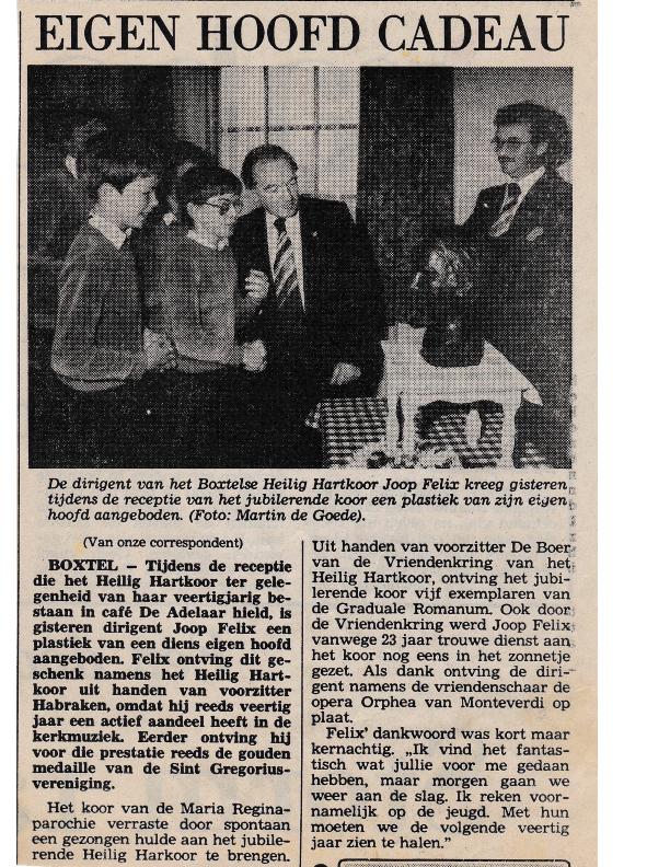 1983 Joop Felix eigen beeld cadeau