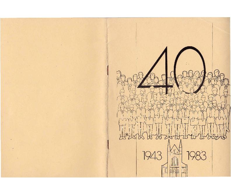 1983 Boekje Vriendenkring 40 jaar 1943-1983