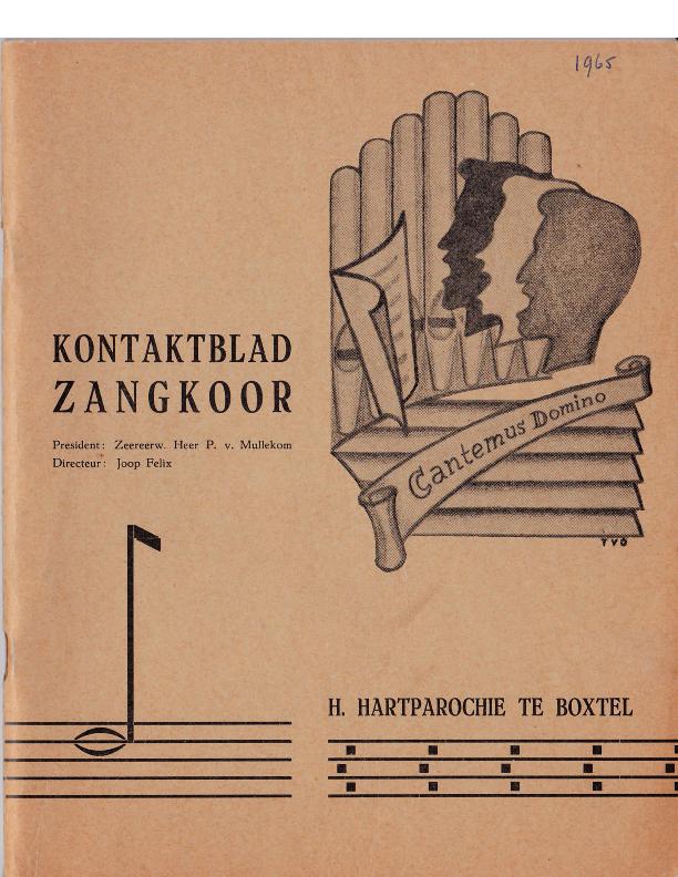1965  Kontaktblad Zangkoor;jg.3-4 1965