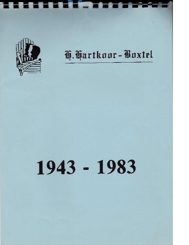 1983 Kalender H.Hartkoor 1943-1983