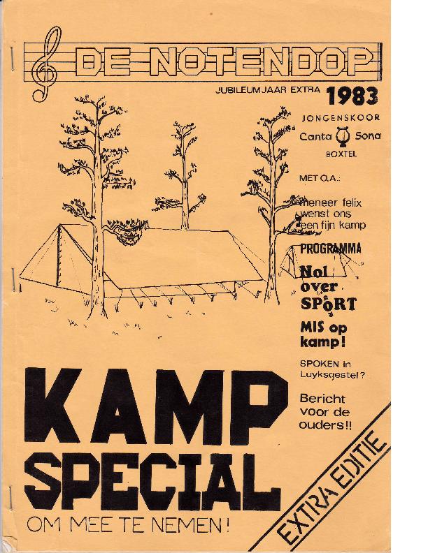1983 De Notendop, Jubileumjaar Extra 1983