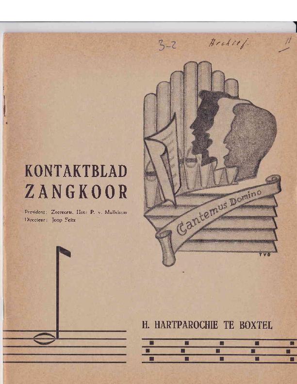 1965 Kontaktblad Zangkoor;jg.3-2 1965