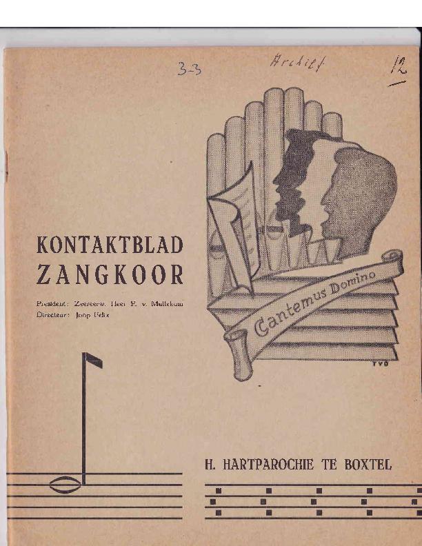 1965 Kontaktblad Zangkoor;jg.3-3 1965