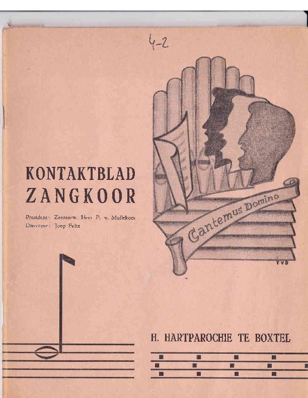 1966 Kontaktblad Zangkoor;jg.4-2 1966