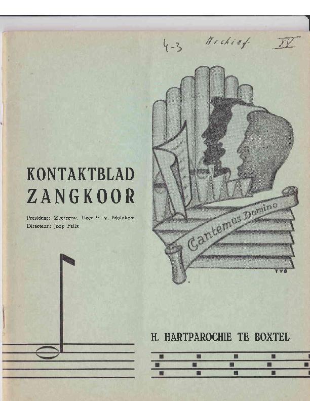 1966 Kontaktblad Zangkoor;jg.4-3 1966