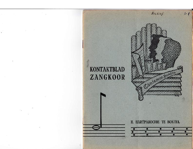 1962 Kontaktblad Zangkoor; jg.1-1 1962