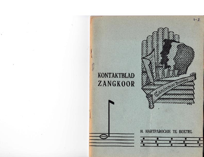 1963 Kontaktblad Zangkoor; jg.1-2 1963
