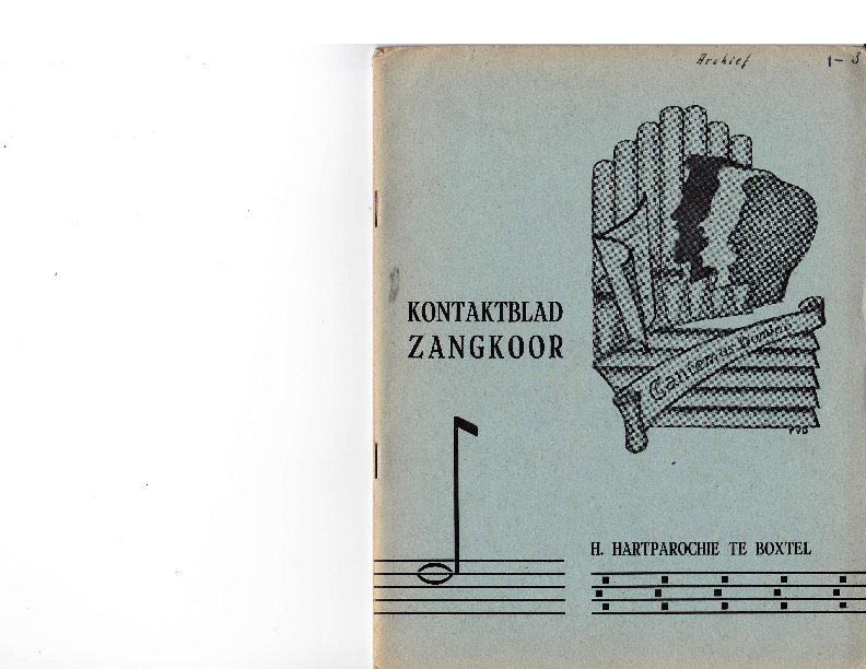 1963 Kontaktblad Zangkoor; jg.1-3 1963