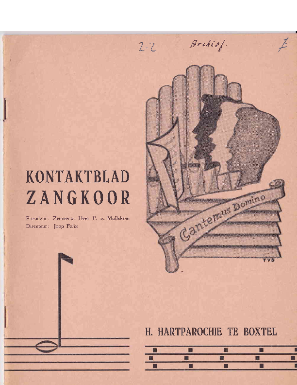 1964 Kontaktblad Zangkoor;jg.2-2 1964