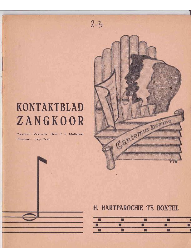 1964 Kontaktblad Zangkoor;jg.2-3 1964