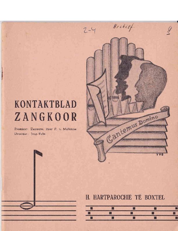 1965 Kontaktblad Zangkoor;jg.2-4. 1964