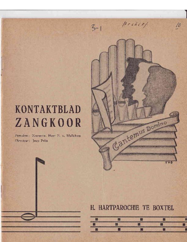1965 Kontaktblad Zangkoor;jg.3-1 1965