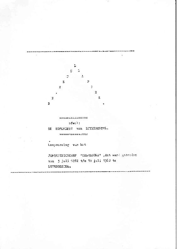 1982 Kampverslag – De Ketellapper, ofwel De Koperteut van Luyksgestel 1982