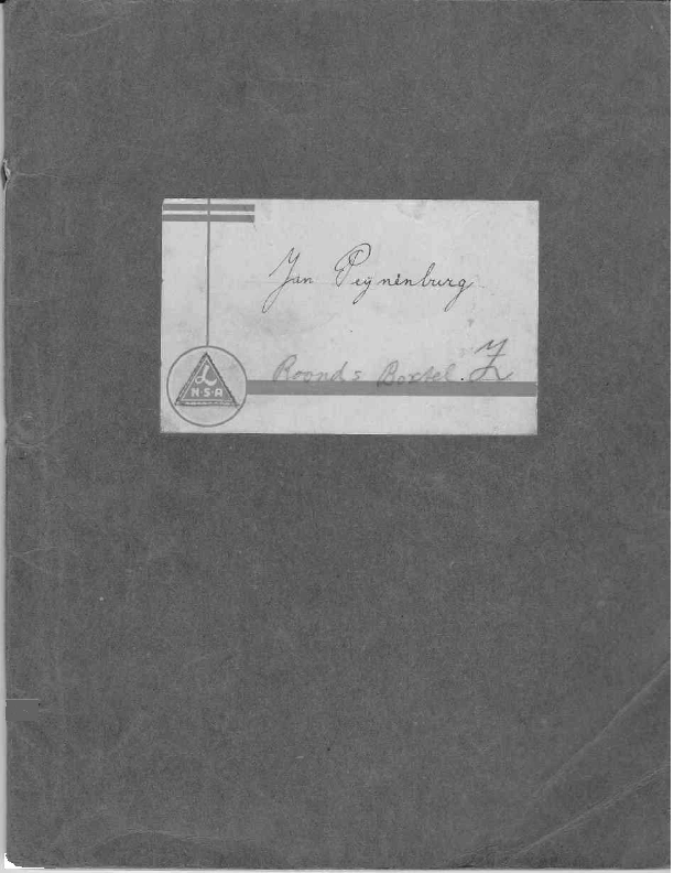 1942 Schriftje Jan Peijnenburg Aloysiusschool 1942