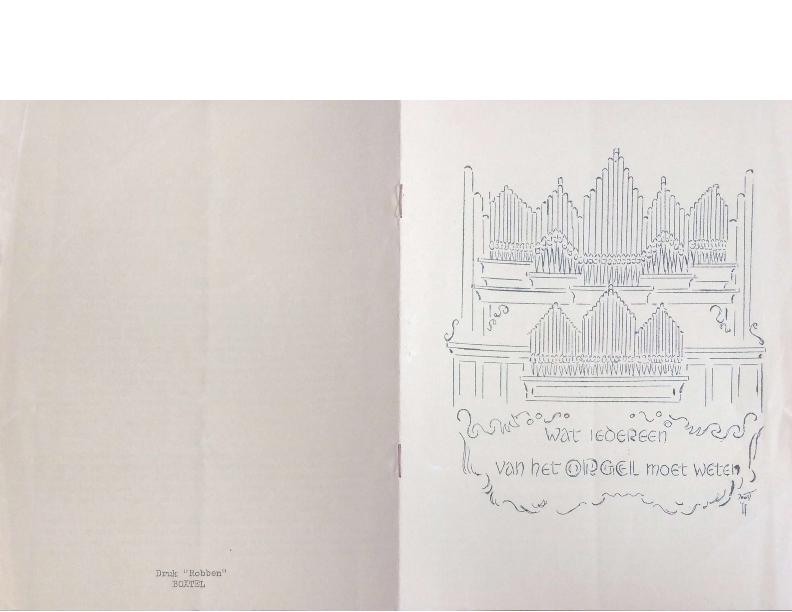 1955 Wat iedereen van het orgel moet weten – Cor Suijs