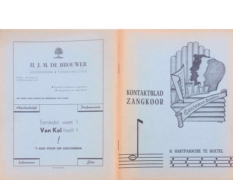 1963 Kontaktblad Zangkoor jg 1-4
