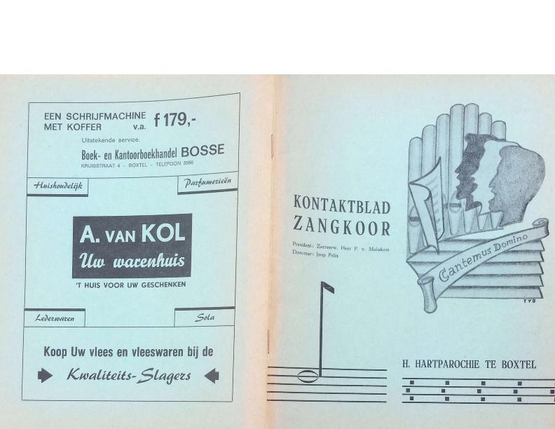 1966 Kontaktblad Zangkoor jg 5-1