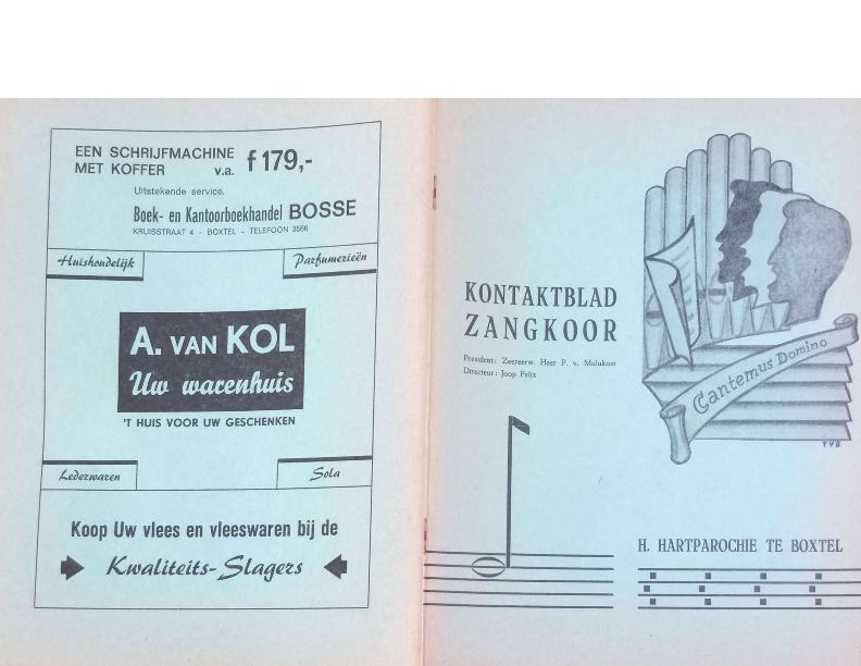 1967 Kontaktblad Zangkoor jg 5-3