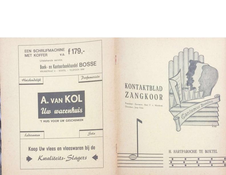 1967 kontaktblad zangkoor jg 6-1