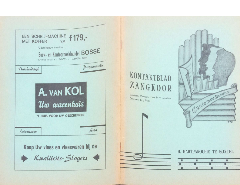 1968 kontaktblad zangkoor jg 6-2