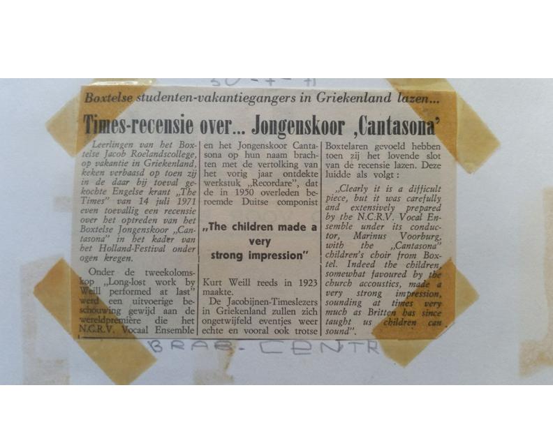 1971 Krantenknipsel Times
