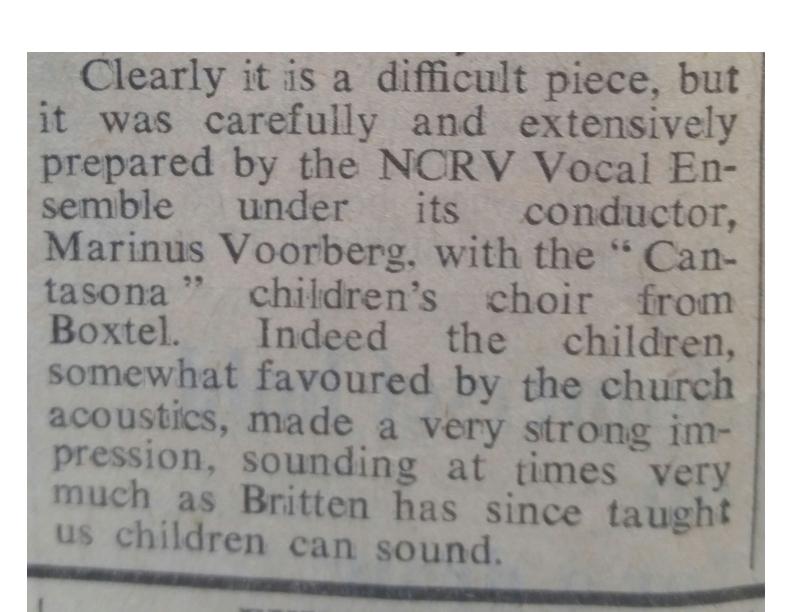 1971 Recordare Krantenknipsel in Times