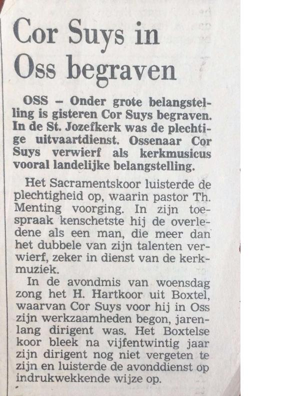 1983 Cor Suijs gestorven
