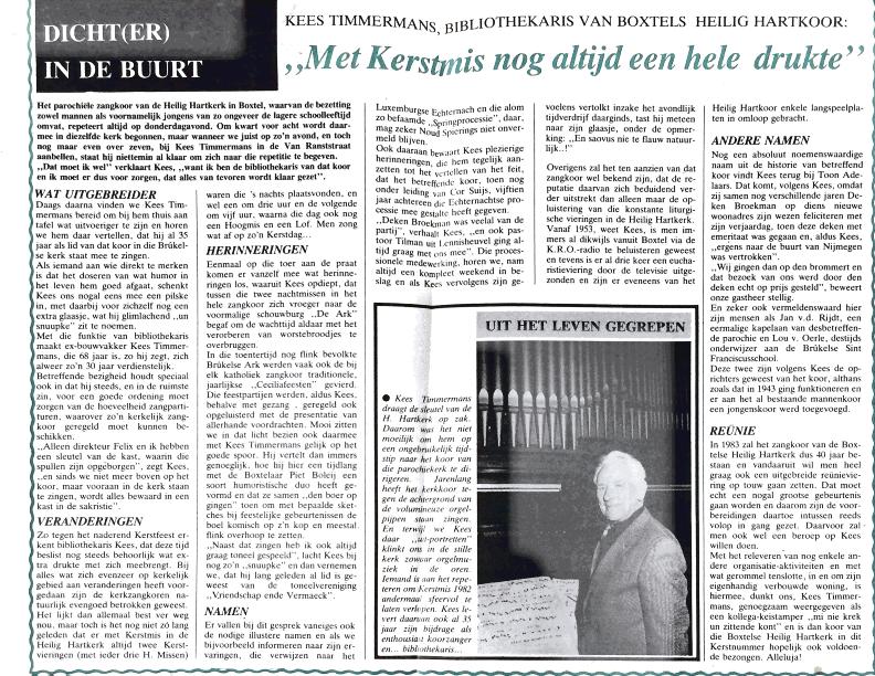 1982 Dichter in de buurt Kees Timmermans BC dec 1982