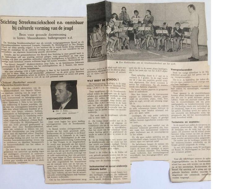 1971 Streekmuziekschool onmisbaar voor culturele vorming