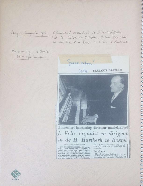 1960 – 1965 Dagboek Joop Felix deel 1