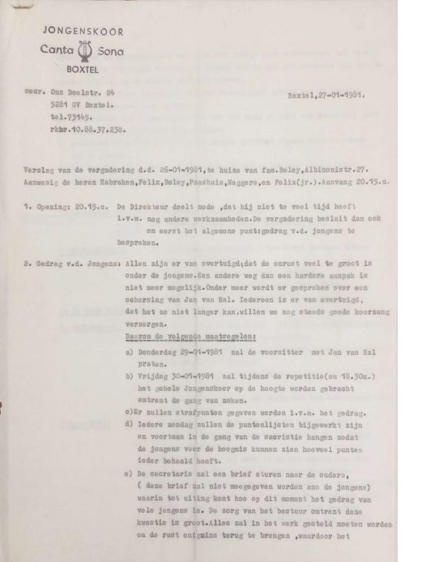 1981 Notulen 26-1-1981