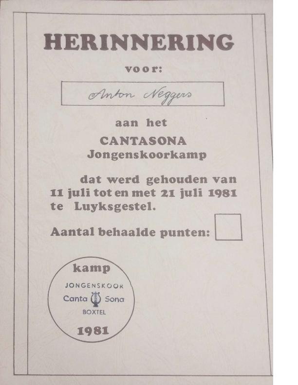 1981 herinnering aan het kamp