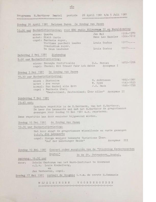 1981 programma april-juli