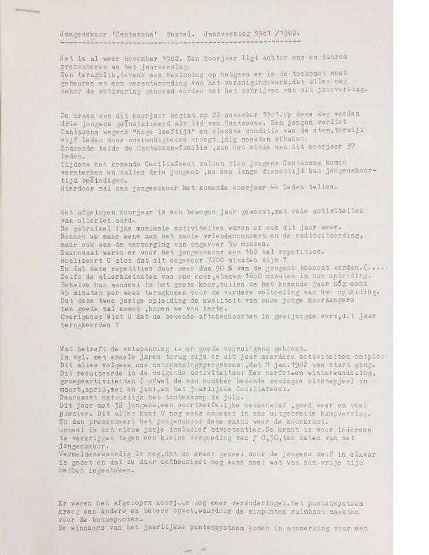 1982 Jaarverslag 1981-1982