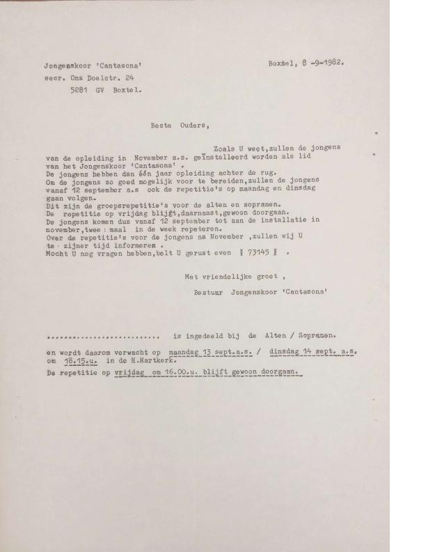1982 brief ouders opleiding