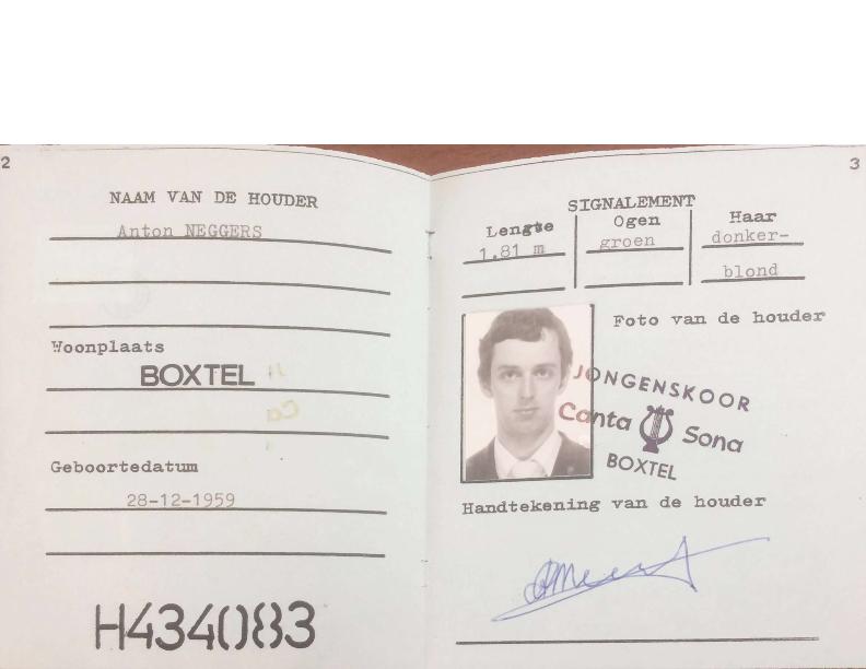 1983 Kamp paspoort Anton Neggers