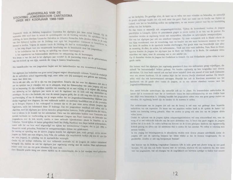 1989 Jaarverslag 1988-1989