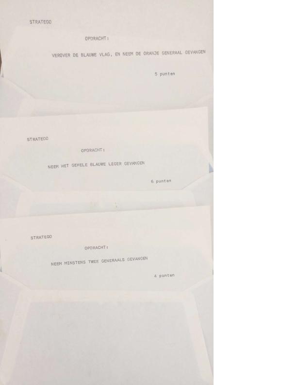 1990 enkele opdrachten kampspel Stratego