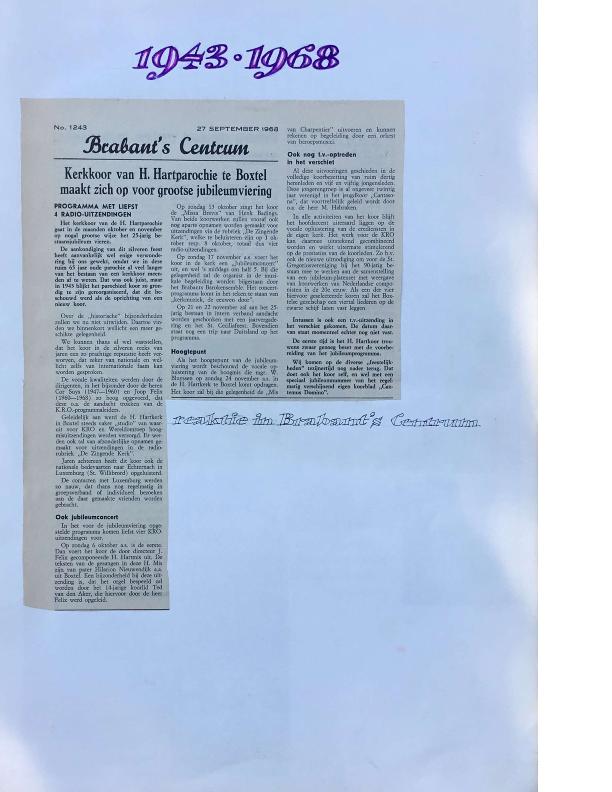 1968 plakboek 25-jarig jubileum
