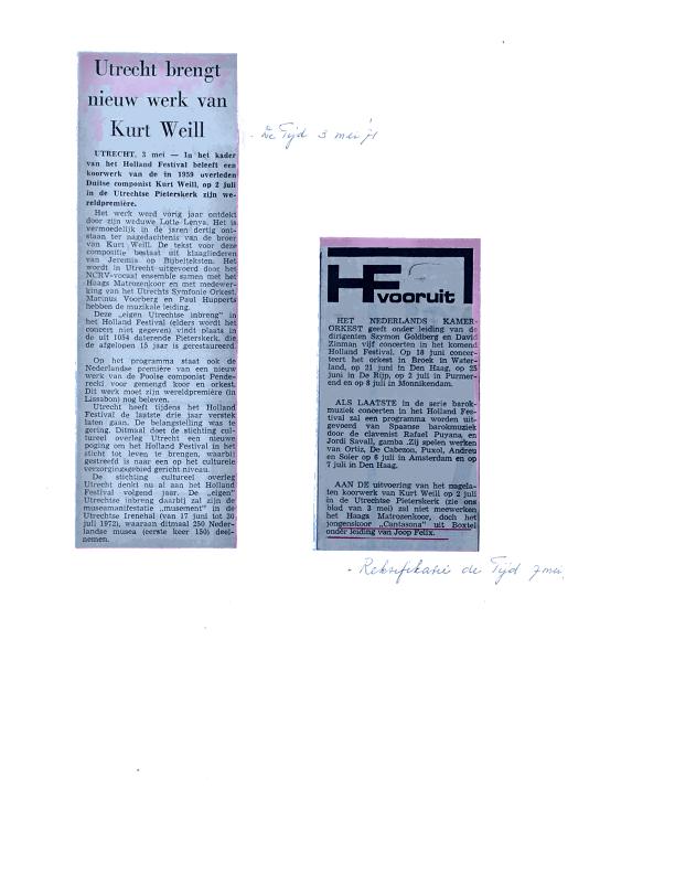 1971 krantenknipsels