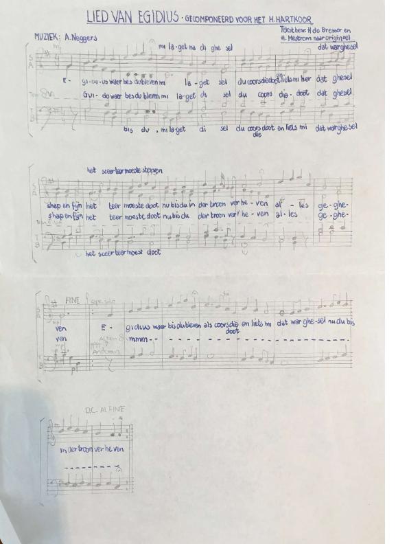 1974 Lied van Egidius – afscheid oudste koorknapen