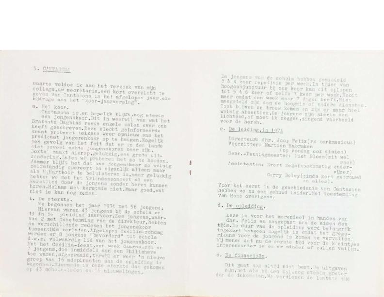 1974 jaarverslag Cantasona