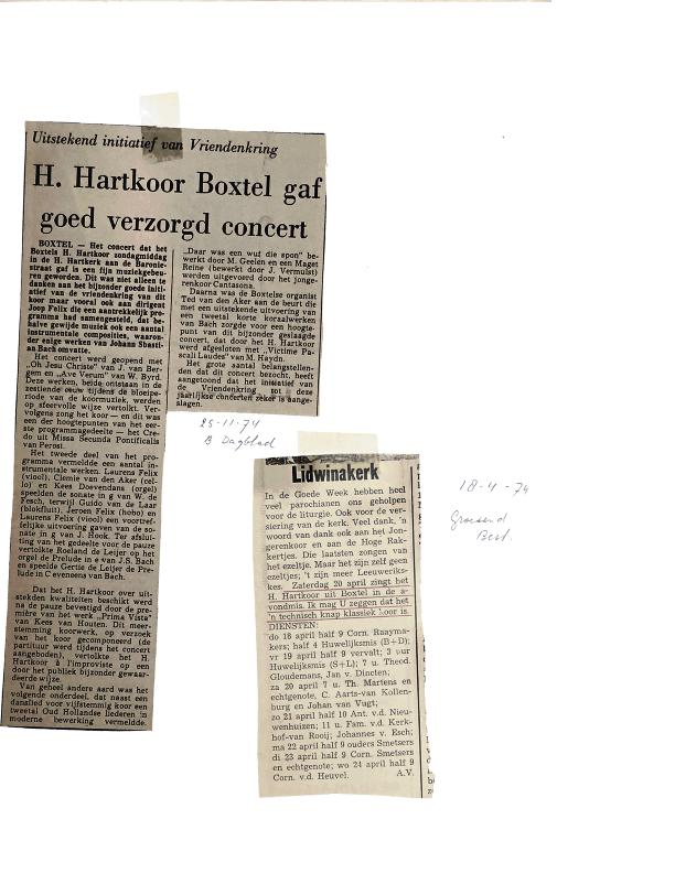 1974 krantenknipsels